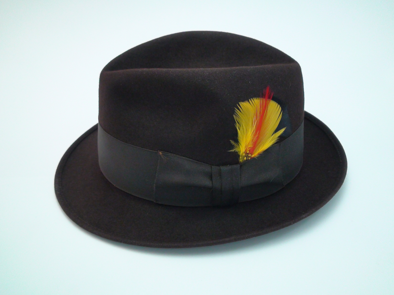 Royal Stetson Fedora Dark Brown Fur Felt Hat 8cab664d225