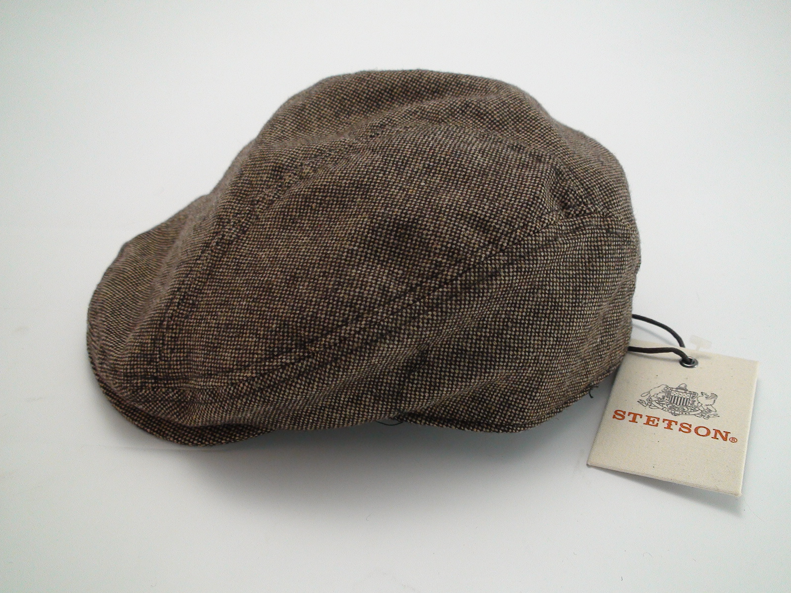 8adea61bb5 NEW Stetson Herringbone Ivy Brown Wool Blend Flat Cap Size Large